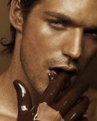 Lick off chocolate