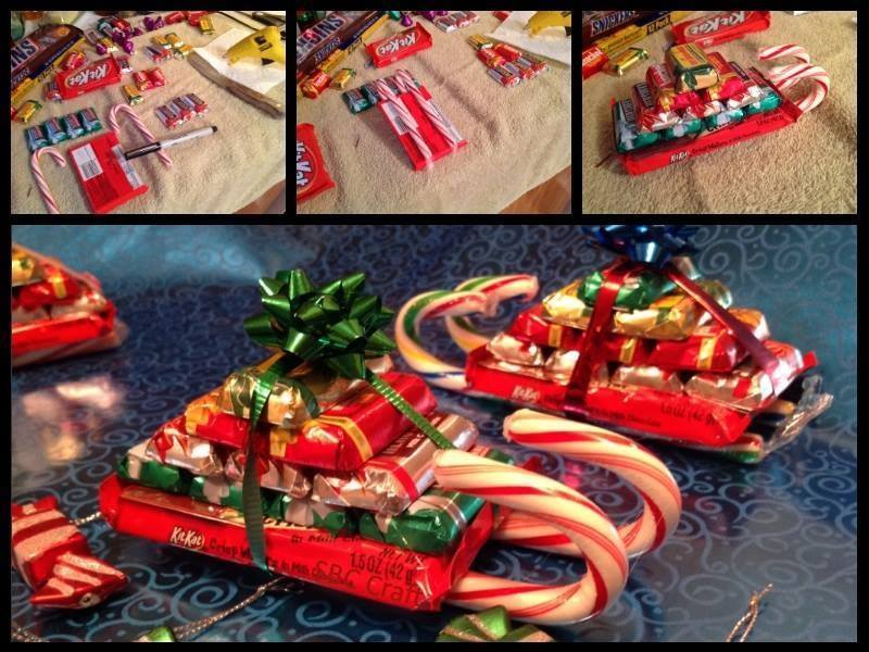 Candy cane sleighs shanpagne 39 s world for Craft gifts for friends